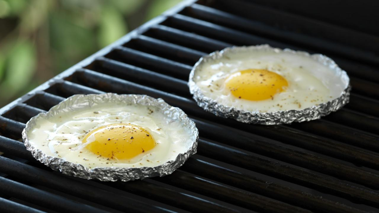 Grilled Fried Eggs