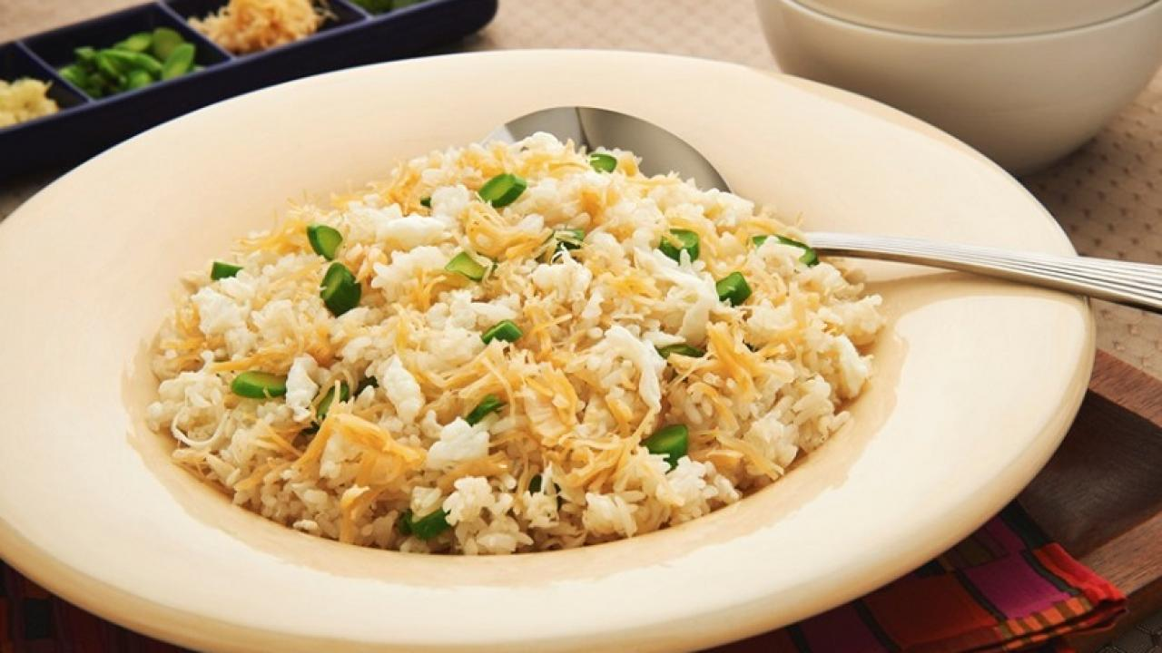 billionaire fried rice with egg whites and shredded conpoy eggs ca