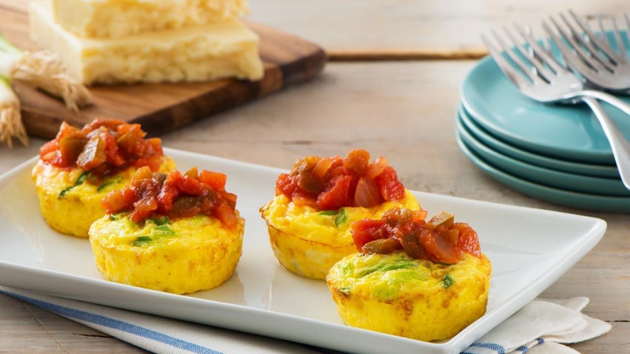 Muffin Tin Frittatas Salsa Recipe Get Cracking
