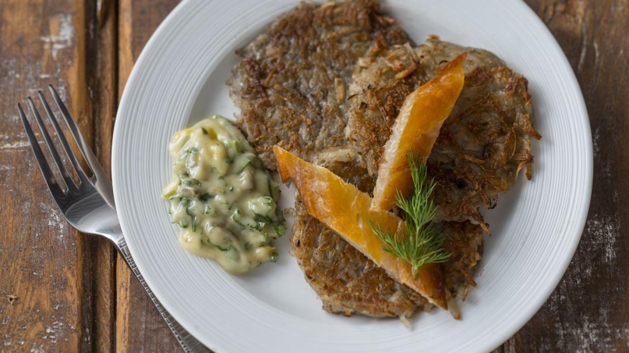 Chef Marysol Foucault's Röti with Gribiche Sauce & Smoked Fish