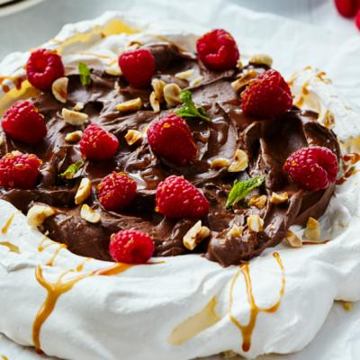 Chocolate Hazelnut Pavlovas CMS