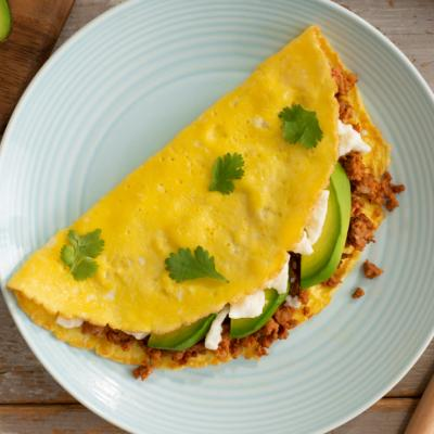 Chorizo and Avocado Omelette CMS