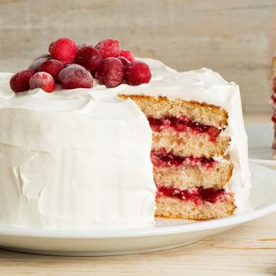 Cranberry Layer Cake Chantilly CMS