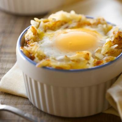 Egg in Potato Nest 3