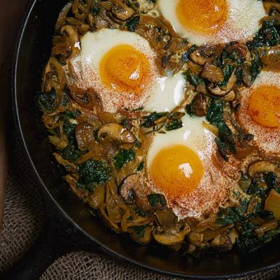 Indian style Skillet Eggs CMS