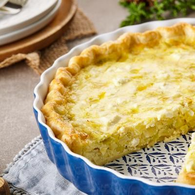 Leek Lemon and Feta Quiche CMS