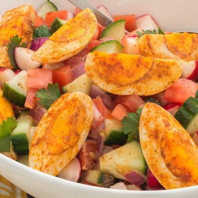 Masala Egg Kachumber Salad CMS