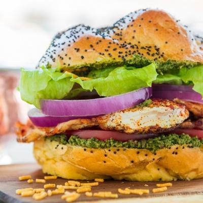 Masala Fried Egg Burger Anda Burger CMS