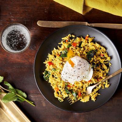 Overhead Indian Spiced Rice