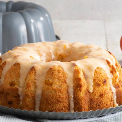 Peaches and Cream Summer Bundt Cake CMS