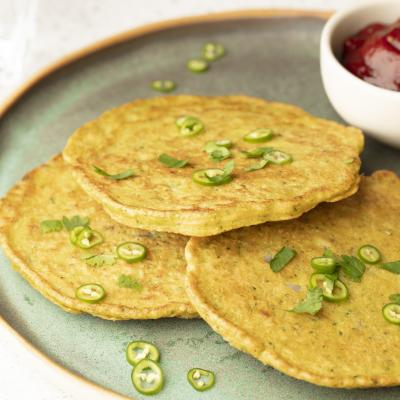 SAVOURY INDIAN STYLE BROCCOLI PANCAKES