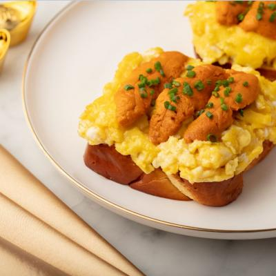 Scrambled Eggs with Sea Urchin on Toast