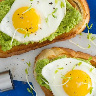 Spring Pea and Egg Toast CMS
