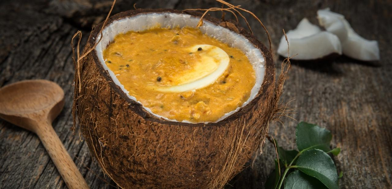 Kerala coconut egg curry eggs hard cooked eggs immersed in a delicious south indian style coconut milk curry sauce scented with curry leaves forumfinder Gallery