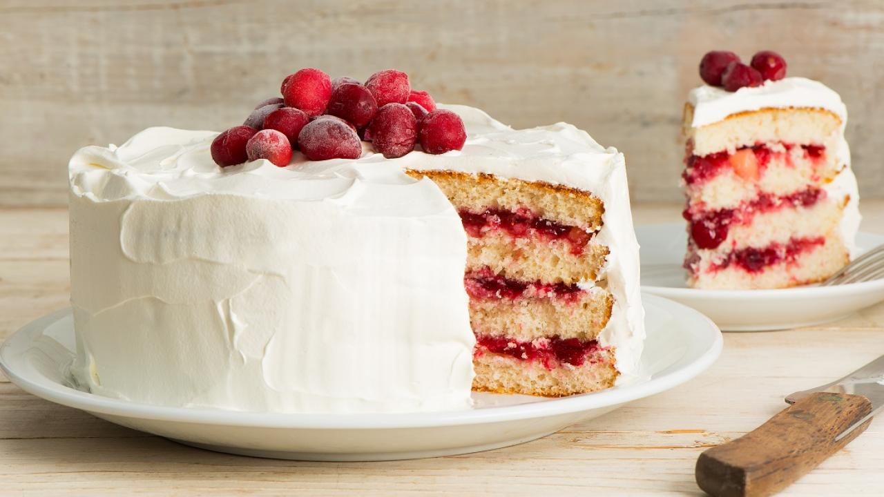 Cranberry Layer Cake Chantilly Recipe Get Cracking