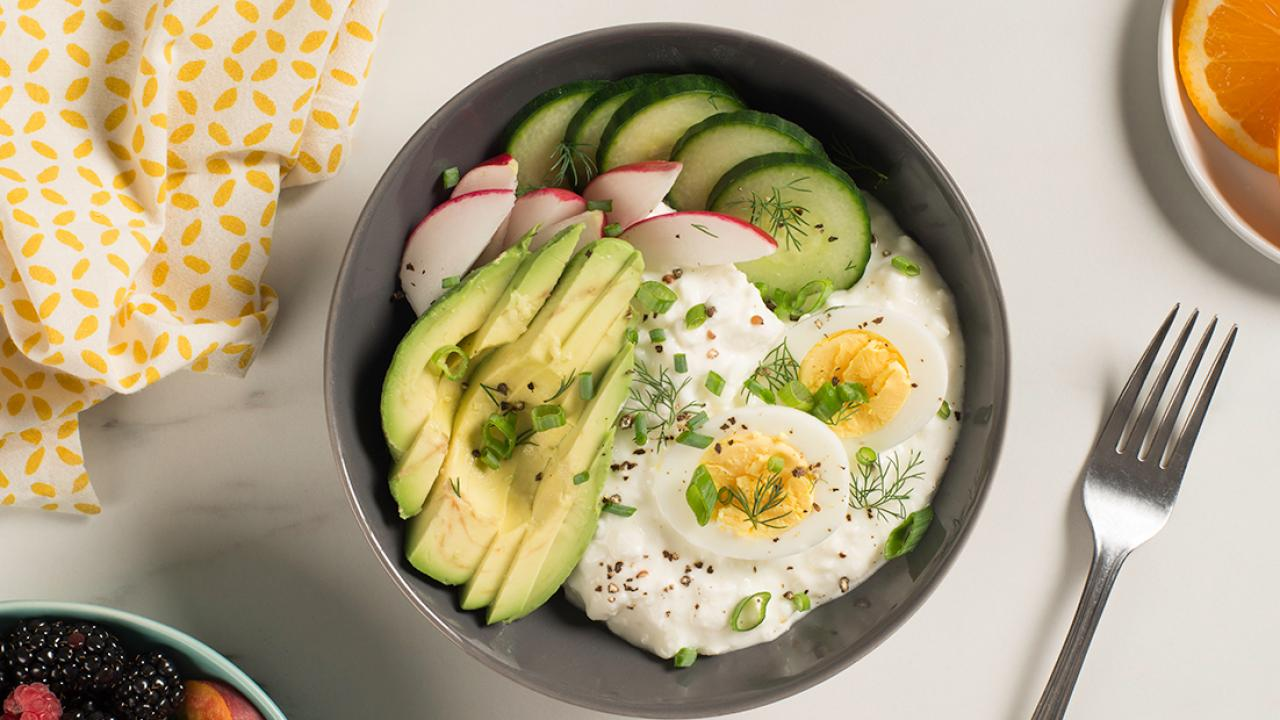 Egg Cottage Cheese Breakfast Bowl Recipe Get Cracking